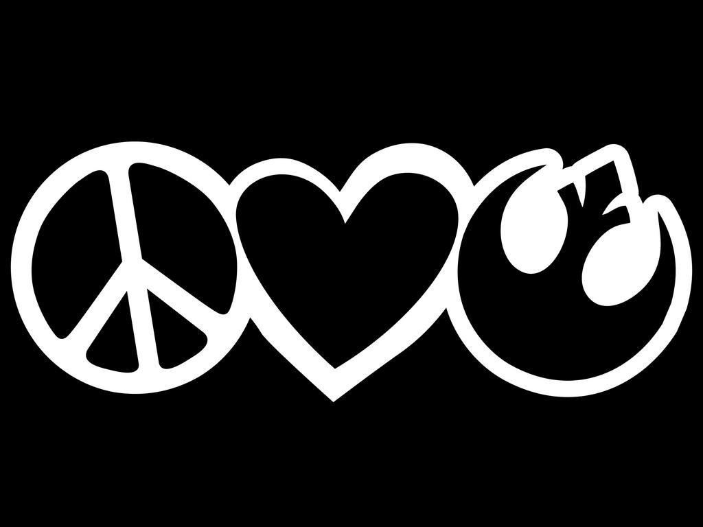 Peace Love Star Wars Rebel Alliance Vinyl Decal Sticker Cars