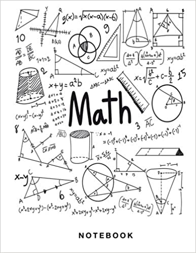 math notebook 12 inch square graph paper pages large 85 x 11 inches and white paper science and math books 9781974303250 amazoncom books