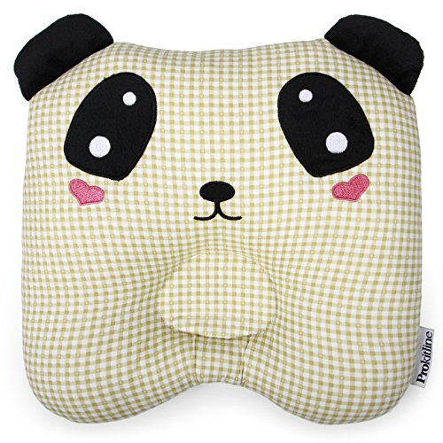 Toddler Pillow - Handmade Nursing Pillow - Baby Pillow Made of 100% Hypoallergenic Cotton - Prevent Flat Head Kids Pillow for Nursery Bedding - Soft & Breathable Infant Pillow for Toddler Bed - Panda from Prokitline