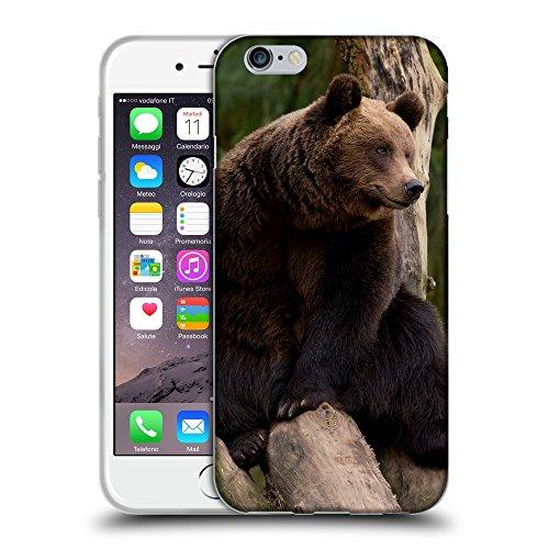 """Just Phone Cases Coque de Protection TPU Silicone Case pour // V00004094 Ours est assis sur un arbre // Apple iPhone 6 6S 6G PLUS 5.5"""""""