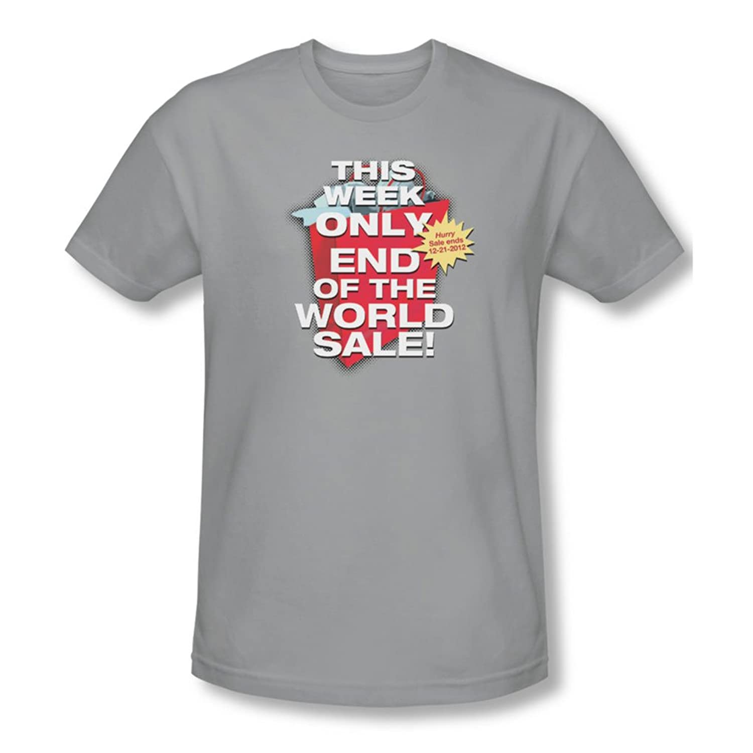 End Of The World Sale - Mens Slim Fit T-Shirt In Silver