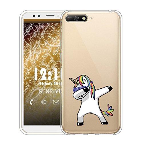 SunWine Funda Huawei Y6 2018 Carcasa, Crystal Case Trasparente Flexi TPU Silicon Delgado,Carcasa Bumper, Shock-Absorción,...