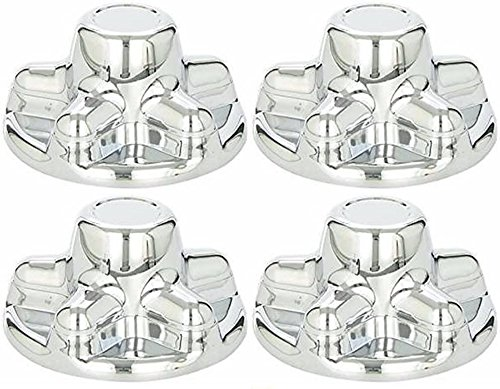 Set of 4 - PHOENIX QT545CHS-x4, ABS CHROME PLATED WHEEL COVER, HUB CAP FITS TRAILER WHEELS with 5 LUG NUTS on 4.5 INCH BOLT PATTERN