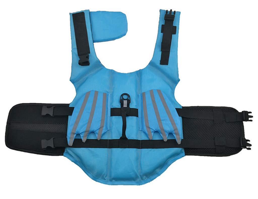 chenqiu Pet Dog Jacket Life Jacket pet Reflective Vest can Adjust Outdoor Swimwear Wings to Protect Beach Water Safety