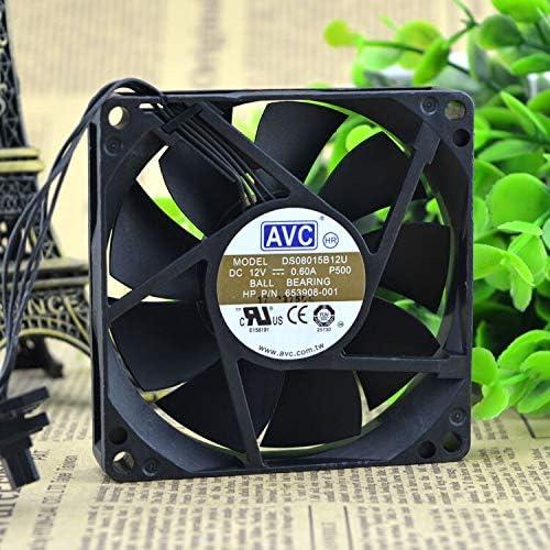 Original FOR AVC DS08015B12U 808015 12V 0.60A cooling fan supports PWM