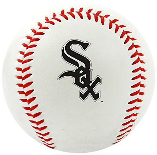 Rawlings 1240029121 MLB Chicago White Sox Team Logo Baseball, Official, White