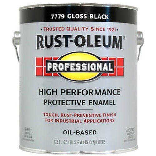- RustOleum #7779402 - Protective Enamel Paint, Gloss Black , 1 Gallon