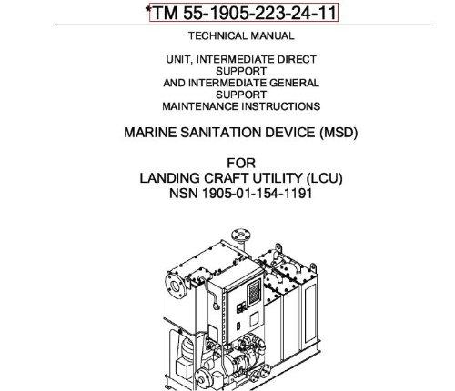 US Army, Technical Manual, TM 55-1905-223-24-11, LANDING CRAFT UTILITY, (LCU), (NSN 1905-01-154-1191), 2008