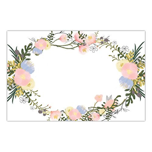 - DB Party Studio 25 Pack Paper Place Mats For Baby Bridal Shower Graduation Birthday Parties Delicate Greenery & Floral Blooms Placemats Easy Cleanup Disposable Guest Table Settings Decor 17