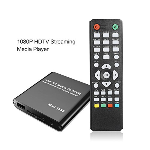 Streaming Media Player for TV, Speck G2 1080p Full-HD Ultra Portable Digital Media Player for USB Drives and SD Cards Video HDMI Player by Kingpeony