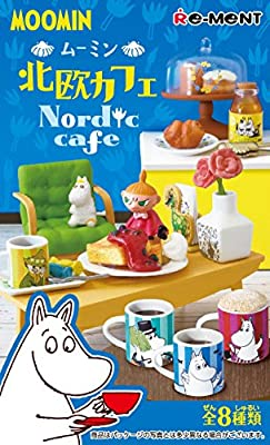 Re-Ment Miniature MOOMIN Northern Europe Nordic Cafe Full Set of 8 pieces