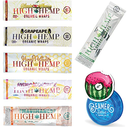 25 Packs (50 Total Wraps) Variety Pack of Organic Hemp Wraps with...