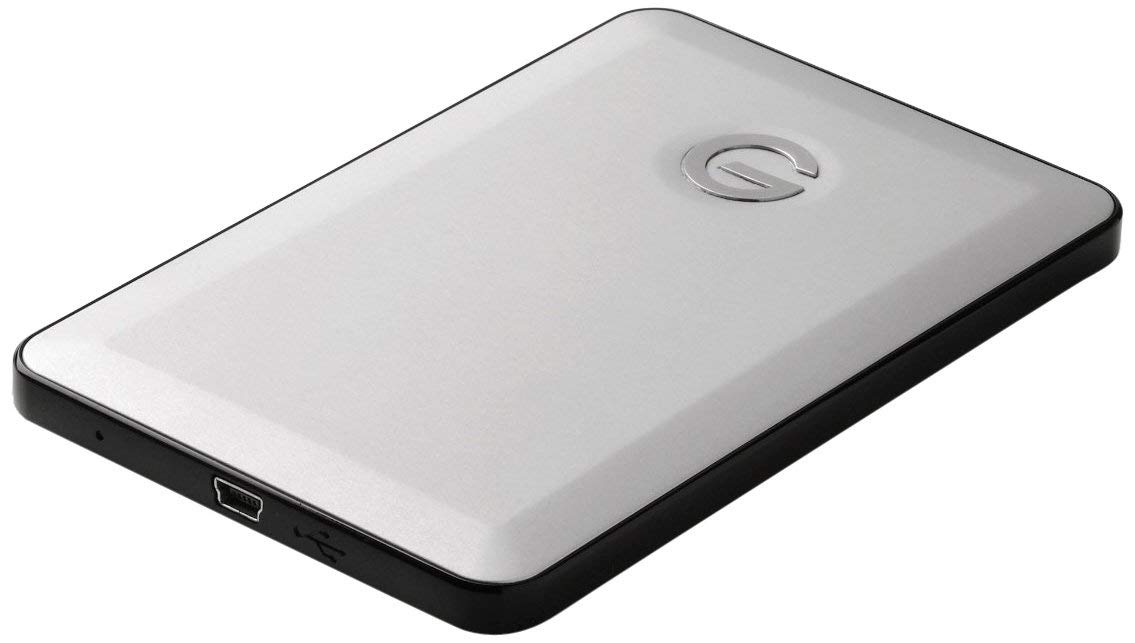 G-Technology G-DRIVE Slim USB 2.0 320 GB Portable External Hard Drive with Smallest Industrial Design 0G01891 (Silver) (Renewed)