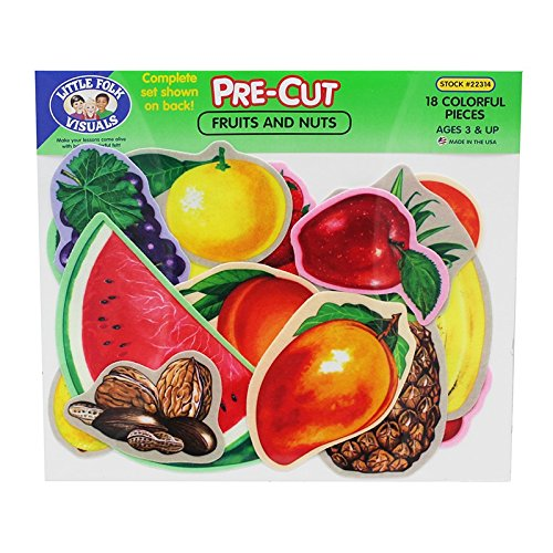 Fruits & Nuts - Pre-Cut Flannelboard (Flannel Board Pieces)