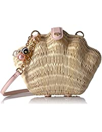 What the Shell Straw Wicker Crossbody