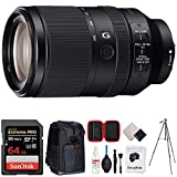 Sony FE 70-300mm F4.5-5.6 G OSS Full-Frame E-Mount Lens (SEL70300G) + 64GB Accessories Bundle Includes, 64GB SDXC Memory Card, Photo Camera Sling Backpack, 60