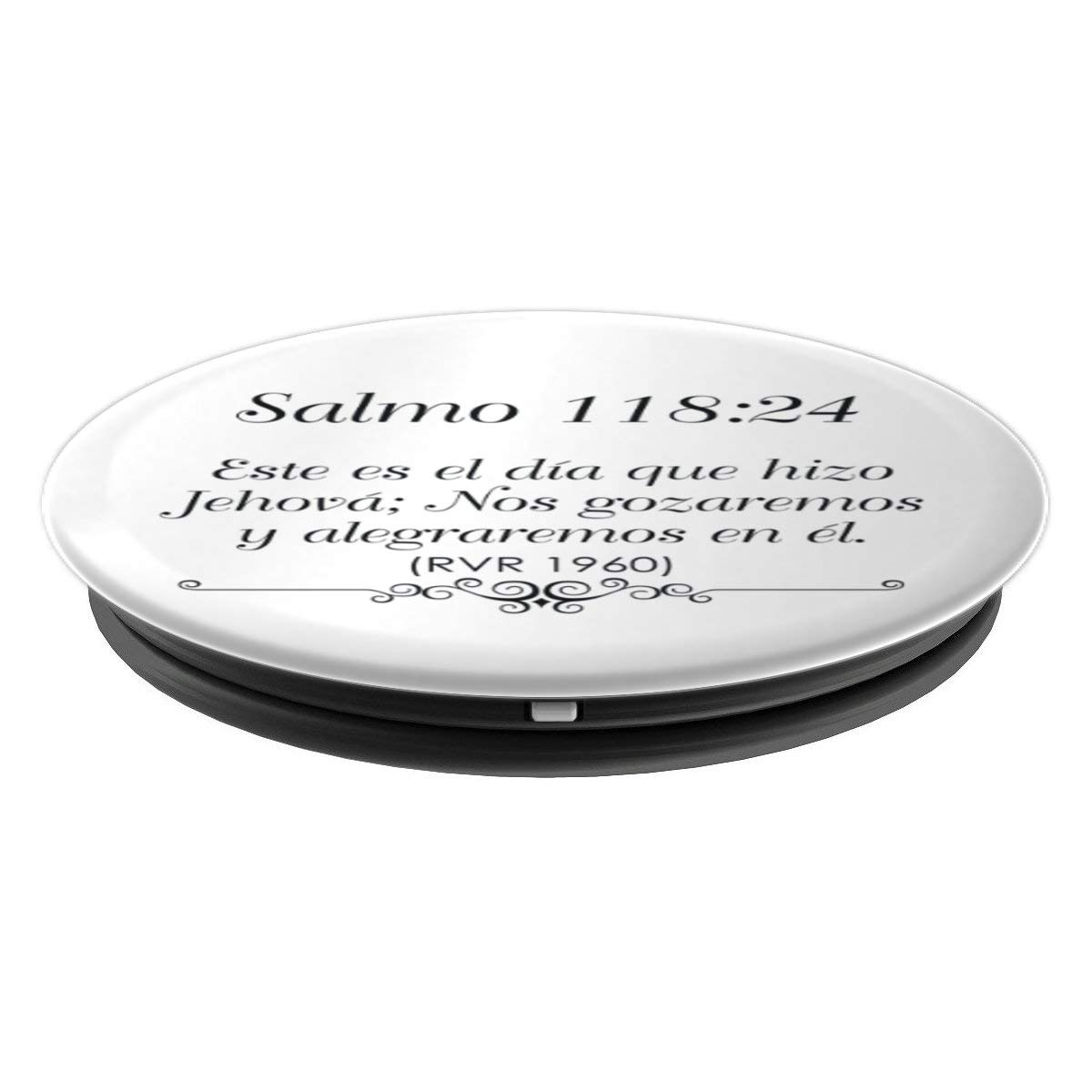Amazon.com: Popsockets Para Celular Color Blanco Con Salmo 118:24 - PopSockets Grip and Stand for Phones and Tablets: Cell Phones & Accessories