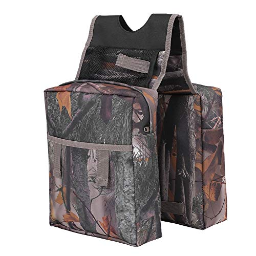 (Yunhany Direct Camouflage ATV Motorcycle Snowmobile Padded Cargo Storage Tank Saddle Bag)