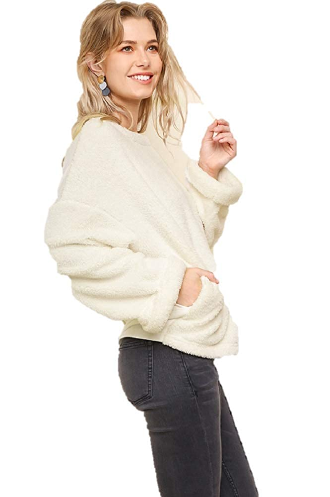 ASA Fashions Boutique Fuzzy with Pockets Pullover Fashion Umgee Sweatshirt