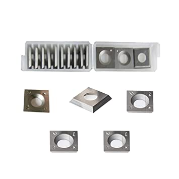 RTing 4-Sided Tungsten Carbide Indexable Replacement Inserts Designed for  Spiral/Helical Planer Cutter Head Wood Lathe Tool Pack of 10 (14mm