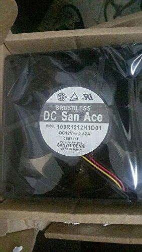 SANYO 109R1212H1D01 aerofoil fan 12V 0.52A 120×120×38mm 3wire leading