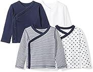 Moon and Back Baby-Girls Set of 4 Organic Long-Sleeve Side-Snap Shirts T-Shirt Set