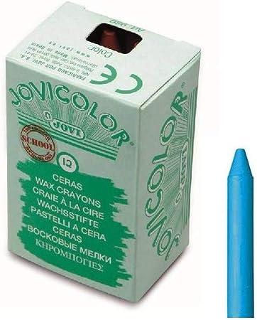 Jovicolor 980 - Ceras, caja de 12 unidades, color azul claro: Amazon.es: Oficina y papelería