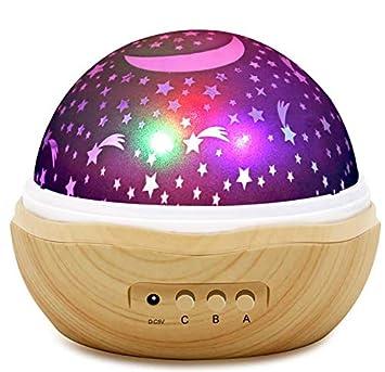 Amazon.com: Luces de noche para niños, proyector de estrella ...