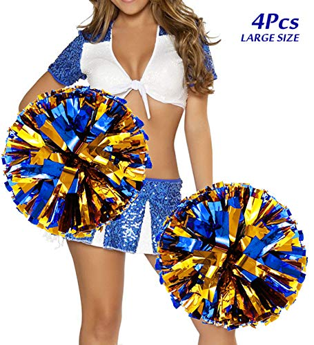 Vbestlife Cheerleading Poms 12 pcs Pompoms Cheer Costume Accessory for Party Dance Sports