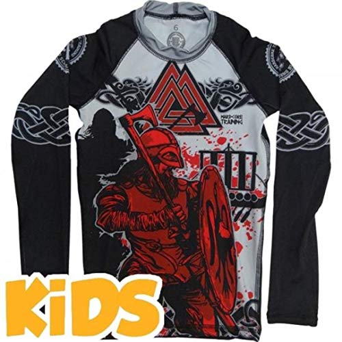 Hardcore Training Kids Rashguard Viking 2.0-6 Years Black/Red ()