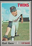 1970 Topps Richard Reese Twins Baseball Card #404