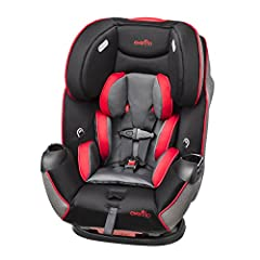 The Symphony LX All-In-One Convertible Car Seat holds a rear-facing infant from 5-40 lbs. (height: 19-40 inches), forward facing toddlers from 22-40 lbs. (height: 28-50 inches), and accommodates children in its booster mode from 40-110 lbs. (...