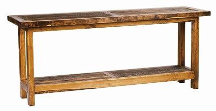 Amazon.com: Mountain Woods Furniture Rustic Wood Sofa Table (72 in ...