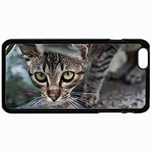 Customized Cellphone Case Back Cover For iPhone 6, Protective Hardshell Case Personalized Cat Cat Band Leaves Peeps Black