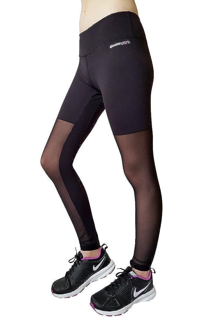 93ef25c4188b31 Amazon.com  Deuce Sports Tango Women s Black Workout Pants Yoga Leggings  High Waist Pocket  Clothing