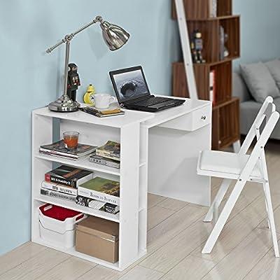 SoBuy Mesa de Escritorio, Mesa de Ordenador con un cajón y 4 ...