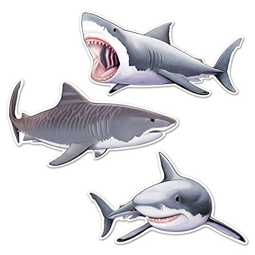 Ocean Themed Costumes Ideas (Beistle Shark Cutouts, 22.5