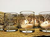 Tree Branch Favors Engraved Glass Rustic Wedding Decor 36 pcs Reception Candles For Sale