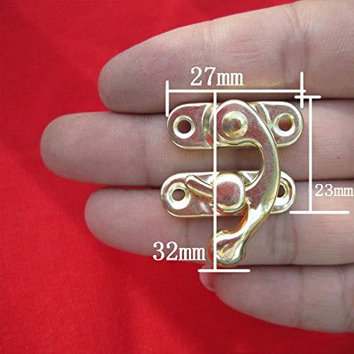 12pcs regelm/ä/ßige mittlere rechte Taste Haken Haken Hornschnalle - antike Farbe mit 48pcs Schraube YUYUE21