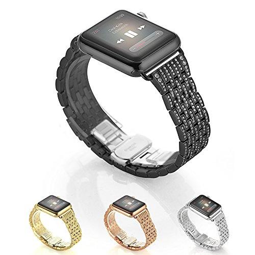 Kartice Rhinestone Stainless Bracelet Models 38mm