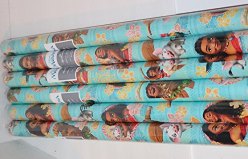 Moana Birthday Party Supplies Hallmark Moana Gift Wrap 20SQ FT - Premium Gift Wrap