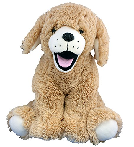 Stuffems Toy Shop Record Your Own Plush 16 inch Golden Retriever Puppy - Ready to Love in A Few Easy Steps