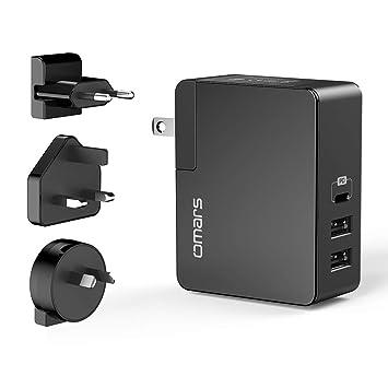 Omars PD Cargador de Pared, con 3 Puertos (2 USB A, 1 USB C ...