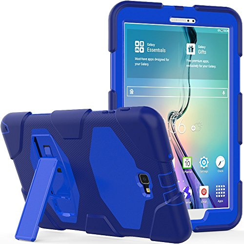 Galaxy Tab A 10.1 Case, Rugged Kickstand - Shockproof Heavy Duty Hybrid Three Layer Kids Child Proof Case Cover for Samsung Tab A 10.1 Inch (SM-T580/T585/T587)(NO S Pen Version) - ()