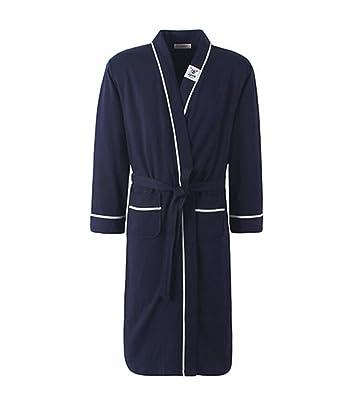 PFSYR Pijamas de hombre Primavera y otoño ropa cómoda para el hogar/Algodón cálido albornoz