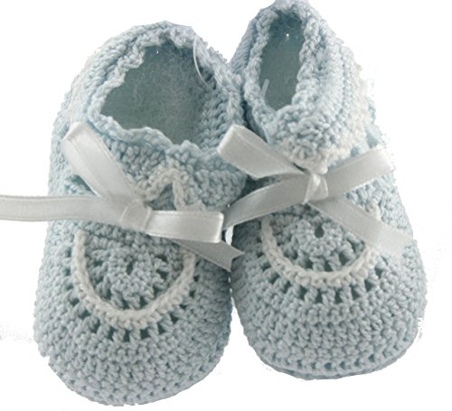 newborn-infant-boys-blue-white-crochet-baby-sock-booties-take-home-layette-petit-ami-0-3m