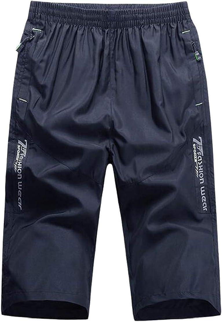 UUYUK Men Stylish Basketball Elastic Waist Breathable Gym Sport Shorts