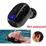 Waterproof IP68 Wireless Earbud, V4.2 Mini Bluetooth Earbud, Car Bluetooth Headset Invisible Headphone with Mic, Special for Swimming Bathing Shower Driving(only one earbud)