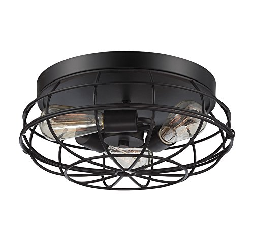 Savoy House Six Light (Savoy House 6-8074-15-13 Scout 3-Light Flush Mount in English Bronze)