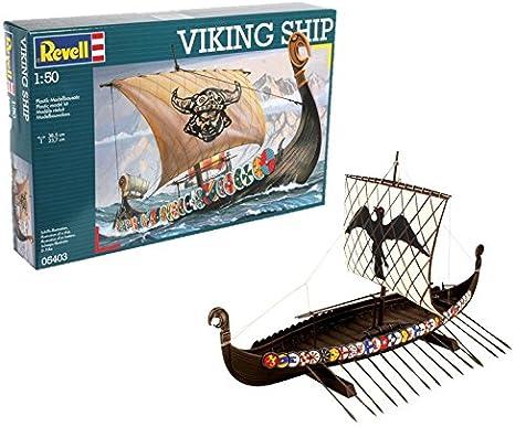 Revell Maqueta Viking Ship, Kit Modello, Escala 1:50 (5403) (05403), Multicolor: Amazon.es: Juguetes y juegos